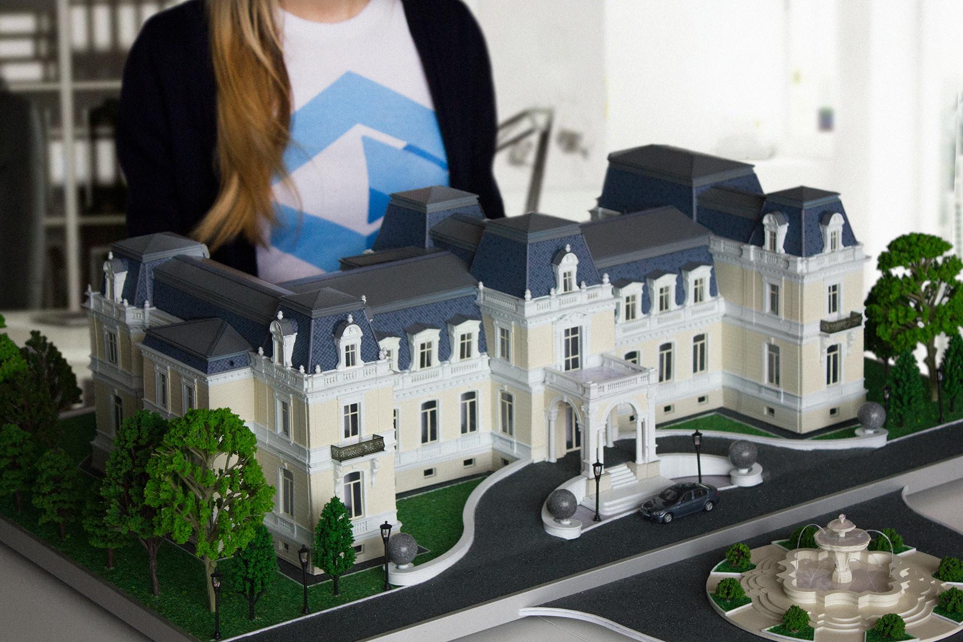 макет жилого дома