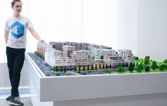 макет жилого комплекса (1)