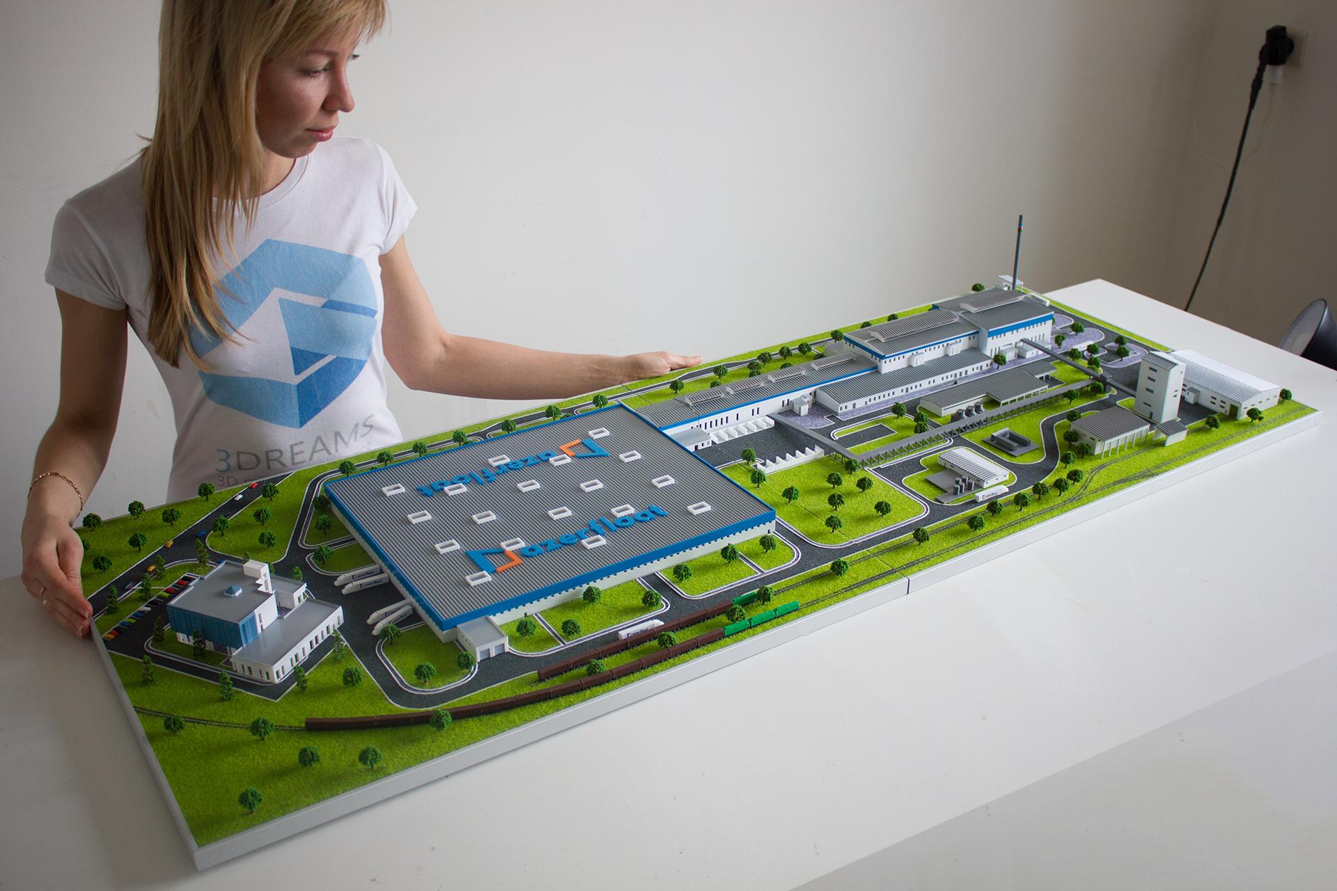 макет завода