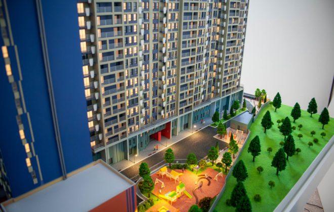 Wohnkomplex Architekturmodell 4